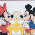 Mickey Mouse & Minnie Mouse counted cross stitch kit